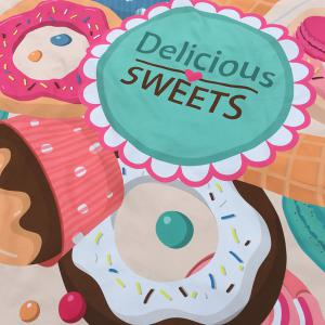 Merry Delicious Sweets Cake Donut Print Round Beach Throw - OFF-WHITE ONE SIZE