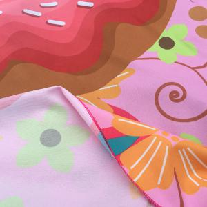 Christmas Flower and Donuts Print Round Beach Throw -