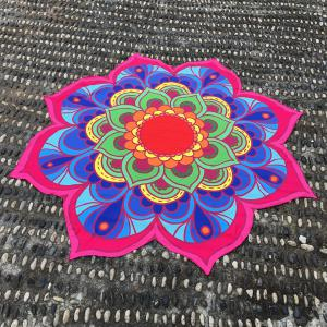 Lotus Flower Beach Throw