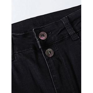 Plus Size Fleece Four Pockets Jeans - BLACK 42