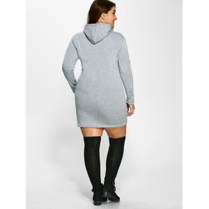 Plus Size Front Pocket Hoodie Dress -