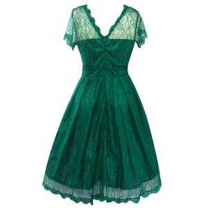 Funky Short Wedding A Line Dress With Sleeves -