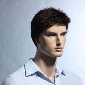 Short Pixie Cut Fluffy Straight Men's Synthetic Wig - BROWN