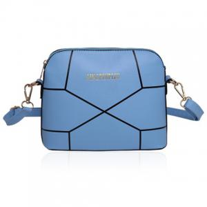 PU Leather Geometric Print Crossbody Bag
