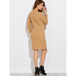 Long Sleeve High Furcal T-Shirt Dress -