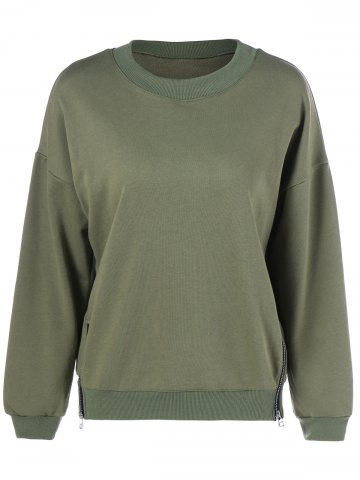 Hot Plus Size Double Ziper Sweatshirt ARMY GREEN 5XL