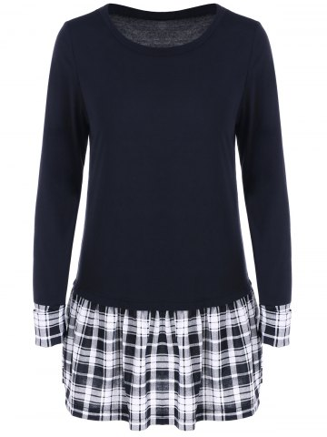 Chic Plaid Patchwork Tee