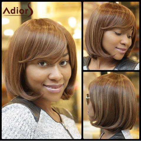 Buy Stunning Medium Straight Side Bang Capless Brown Mixed Synthetic Wig For Women COLORMIX