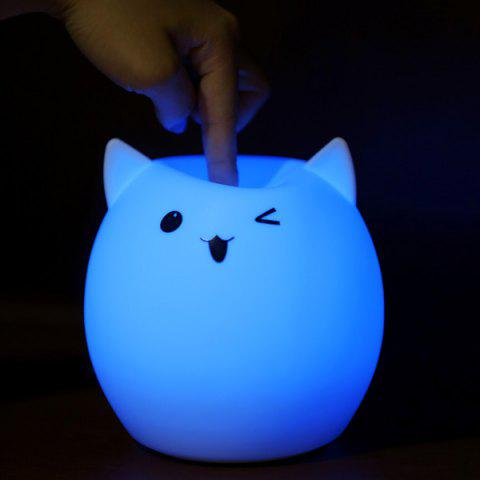 Affordable Silica Gel Pig USB Charging LED Ombre Night Light - WHITE  Mobile