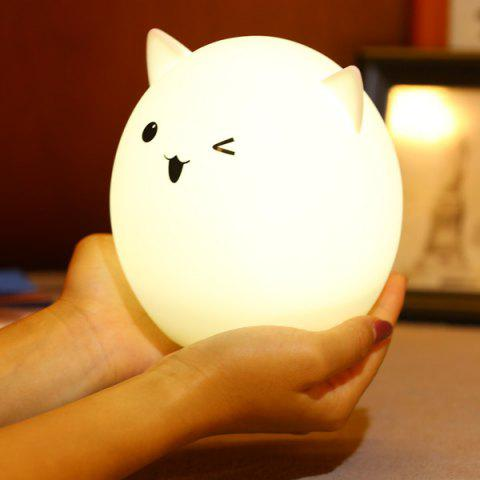 Latest Silica Gel Pig USB Charging LED Ombre Night Light - WHITE  Mobile