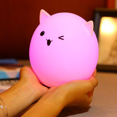 Best Silica Gel Pig USB Charging LED Ombre Night Light - WHITE  Mobile