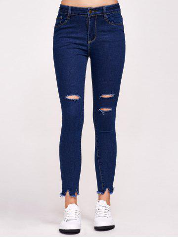 Best High Waist Distressed Tight Jeans