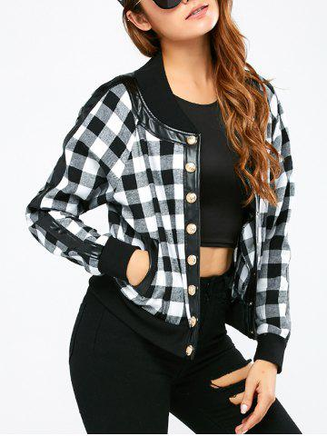 Hot Button Up Plaid Bomber Jacket
