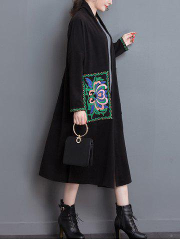 Store Embroidery Duster Long Coat