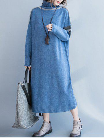 f80661b1f6b 2019 Long Sleeve Side Slit Maxi Sweater Dress