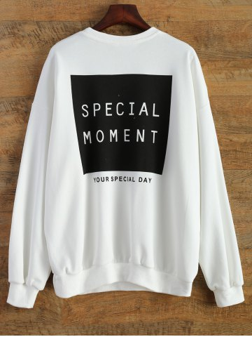 Buy Loose Sports Letter Sweatshirt