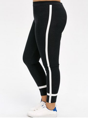 Shops Plus Size Stripe Skinny Leggings