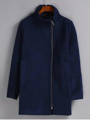 Sale Solid Color Oversized Long Wool Coat