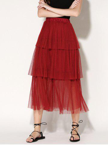Outfits Pleated Layered Tulle Skirt