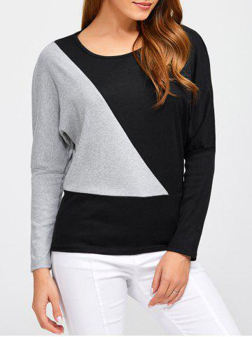 Online Batwing Sleeve Color Block T-Shirt