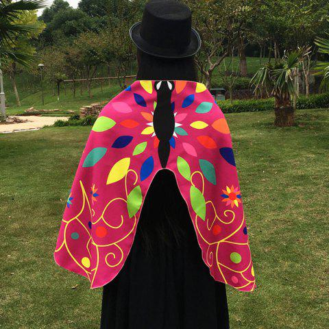 Sale Outdoor Ethnic Colorful Butterfly Wing Scarf - ROSE MADDER  Mobile