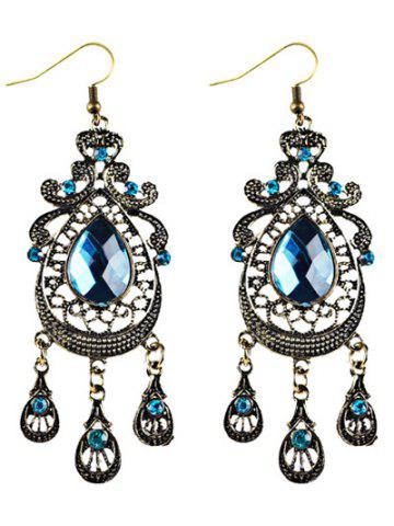 Hot Faux Crystal Filigree Chandelier Earrings