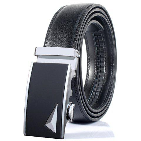 Hot Stylish 3D Triangle Automatic Buckle Wide Formal Belt