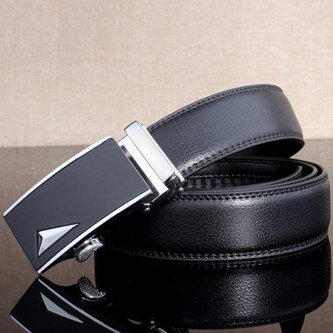 Best Stylish 3D Triangle Automatic Buckle Wide Formal Belt - SILVER  Mobile