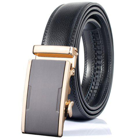 Outfits Simple Embellished Alloy Automatic Buckle Wide Belt