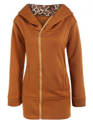 Outfits Long Zip Front Hoodie