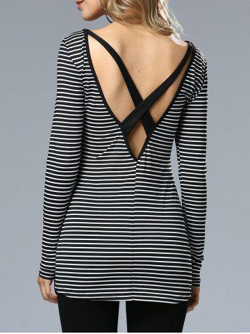 Sale Stripe Cross Back Top