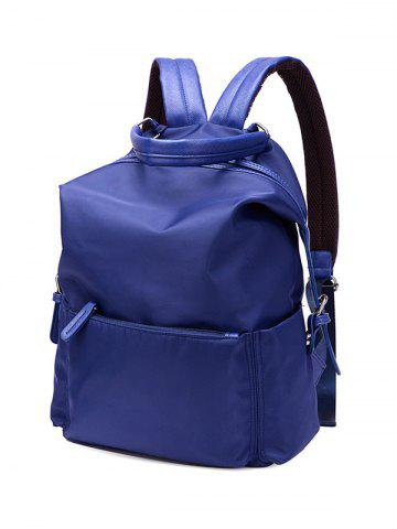 Shops Zippers Double Buckle Splicing Backpack