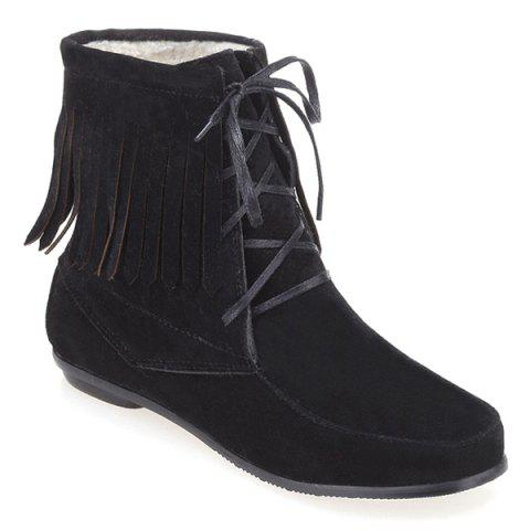 Chic Fringe Ankle Boots