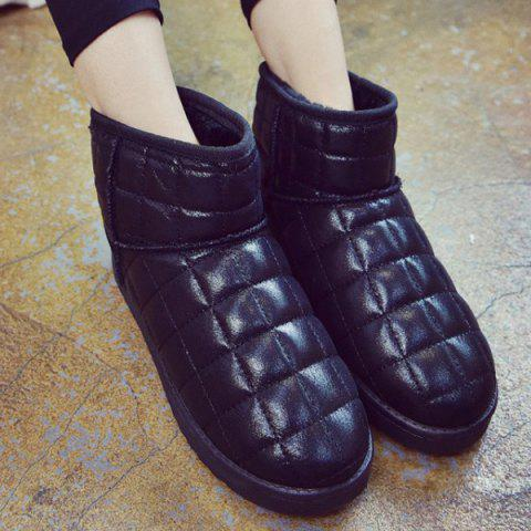 Best Flat PU Leather Snow Boots