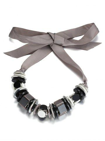 Affordable Alloy Geometric Bowknot Choker Necklace SILVER