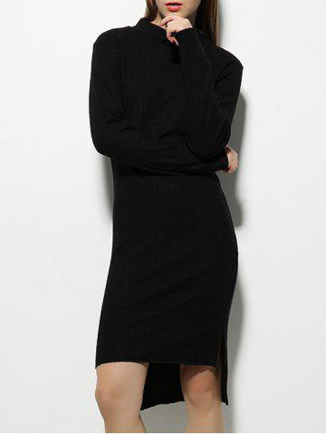 Chic Long Sleeve High Low Sweater Dress