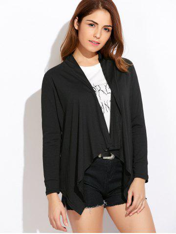 Open Front Draped Blouse