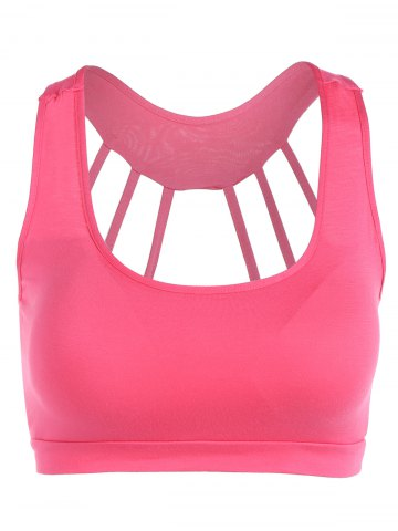 Best Scoop Neck Back Strappy Padded Yoga Top