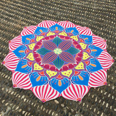 Christmas Retro Lantern Flower Shape Beach Throw - Rose Madder - One Size(fit Size Xs To M)