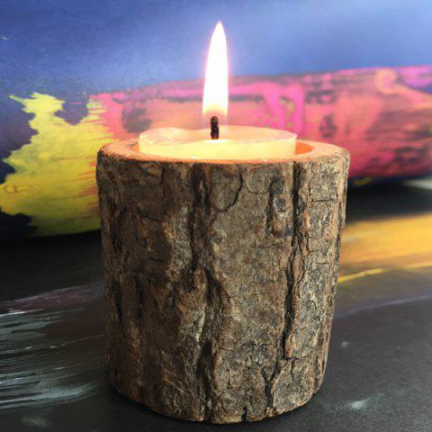 Chic Creative Original Ecology Woody Candle Holder ( Without Candle ) - BROWN  Mobile