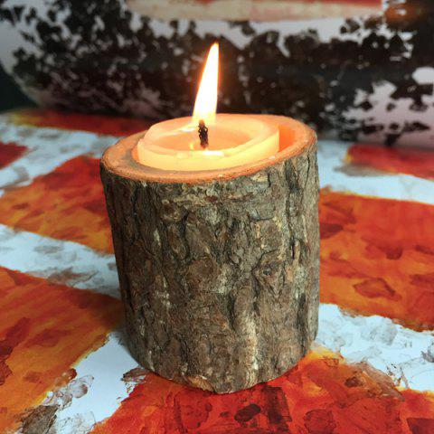 Affordable Creative Original Ecology Woody Candle Holder ( Without Candle ) - BROWN  Mobile