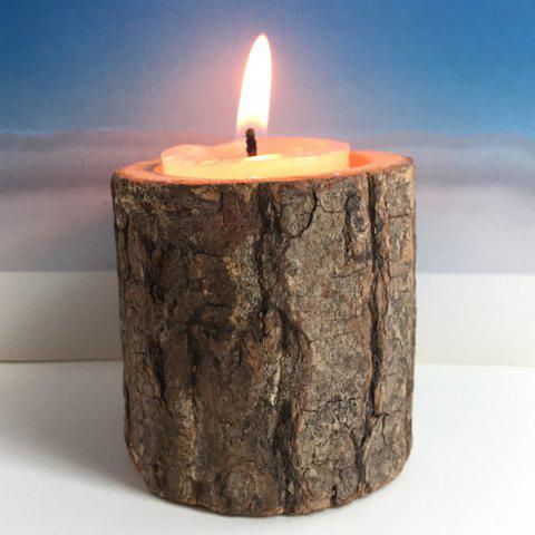 Latest Creative Original Ecology Woody Candle Holder ( Without Candle ) - BROWN  Mobile