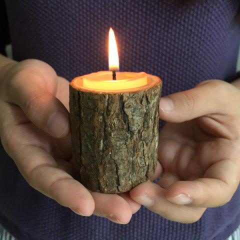 Hot Creative Original Ecology Woody Candle Holder ( Without Candle ) - BROWN  Mobile