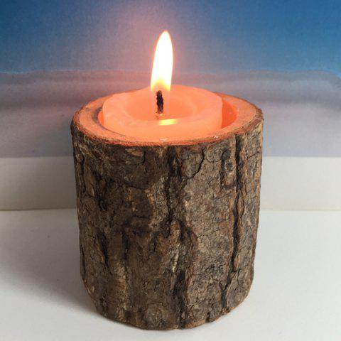 Fancy Creative Original Ecology Woody Candle Holder ( Without Candle ) - BROWN  Mobile