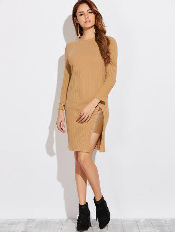 Hot Long Sleeve High Furcal T-Shirt Dress
