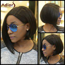 Short Straight Side Parting Capless Synthetic Wig - BLACK