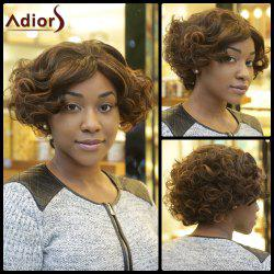 Faddish Double Color Fluffy Short Afro Curly Synthetic Capless Wig