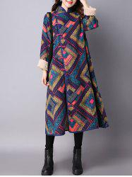 Argyle Chinese Style Loose Coat