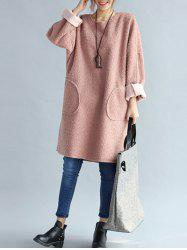 Fuzzy Double Pocket Loose Dress