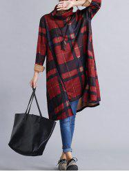 Vintage Plaid Loose Dress